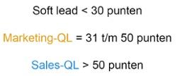 Leadscoring online marketing