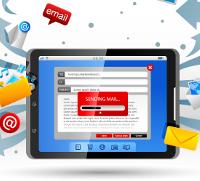 e-mail op een tablet