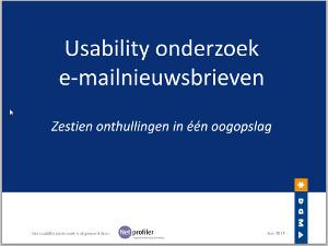 Usability onderzoek e-mailnieuwsbrieven DDMA