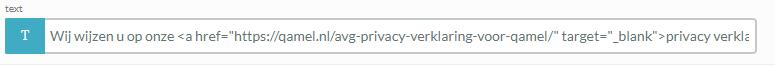 Voorbeeld privacy policy plaatsen